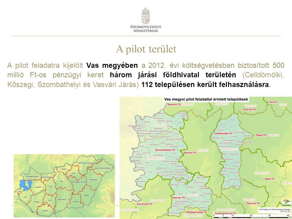 A pilot terület – a kiinduló földrészletek adatai Összesen 25 004 ha terület, 1 894 földrészlet megosztása.