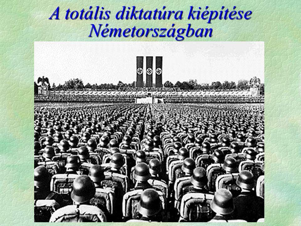A totális diktatúra kiépítése Németországban
