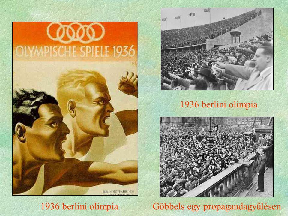 1936 berlini olimpia Göbbels egy propagandagyűlésen