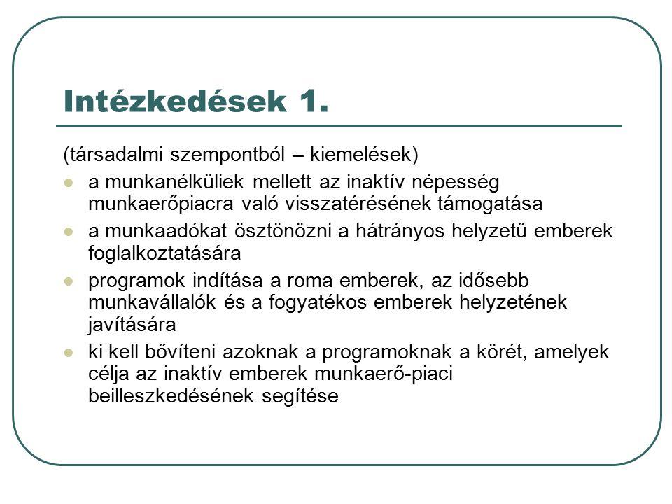 Intézkedések 1.