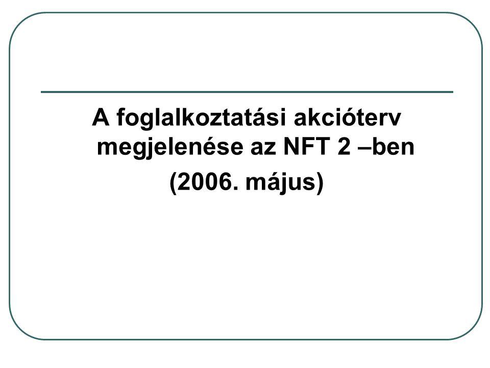 A foglalkoztatási akcióterv megjelenése az NFT 2 –ben (2006. május)