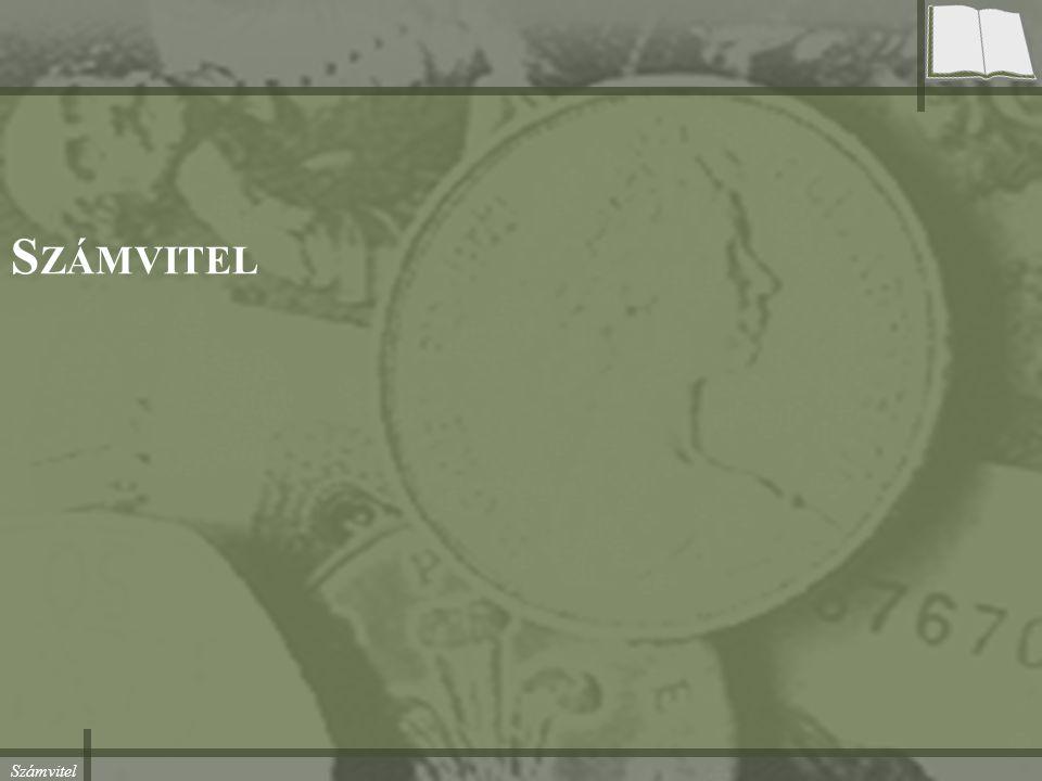 Számvitel Hol tartunk… Beszámoló –Mérleg –Eredménykimutatás Értékelés –1991-1995 –1996-2000 –2001-2004 –2004- –Immateriális javak, tárgyi eszközök értékelése –Készletek értékelése Ormos Mihály, Budapesti Műszaki és Gazdaságtudományi Egyetem, 2015.