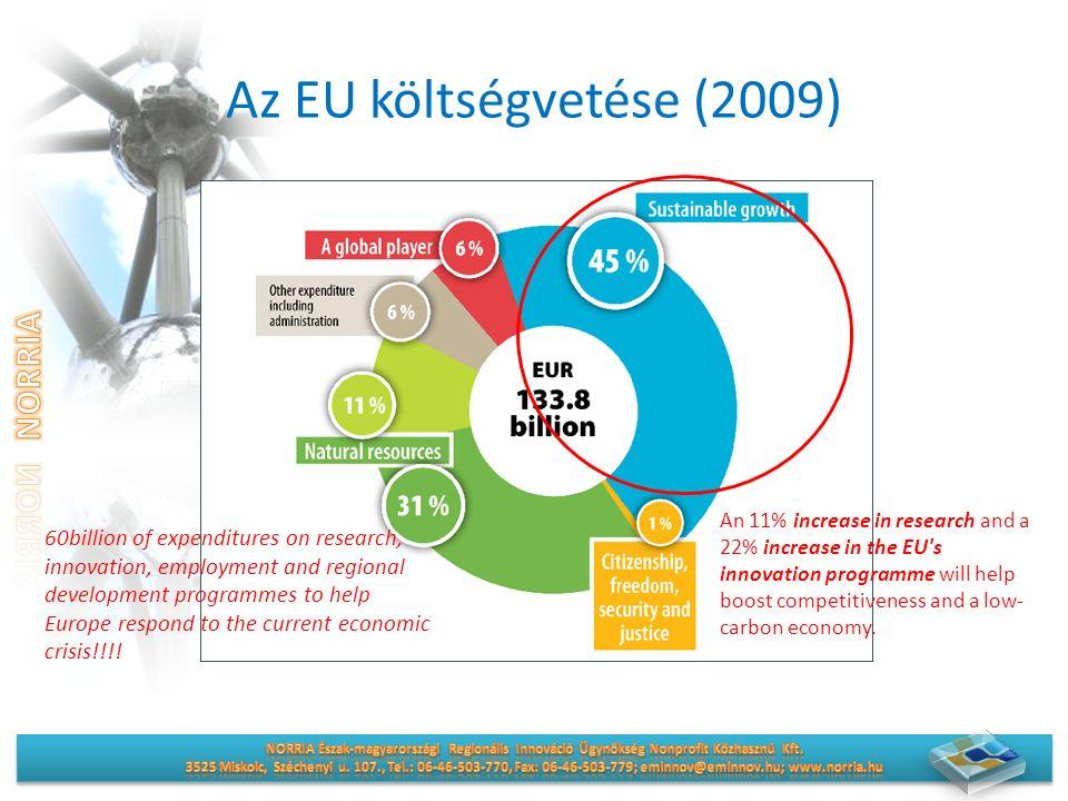 Fókuszterületek a nemzetközi programokban Vállalkozások és innováció (CIP) Információ és kommunikáció (CIP, LIFE+, ETE) Környezetpolitika-környezetirányítás, biodiverzitás, környezetipar, megújuló energia (LIFE+, CIP, FP7, ETE) Fenntarthatóság (CIP, FP7, Marco Polo II- fenntartható közlekedés, ETE)