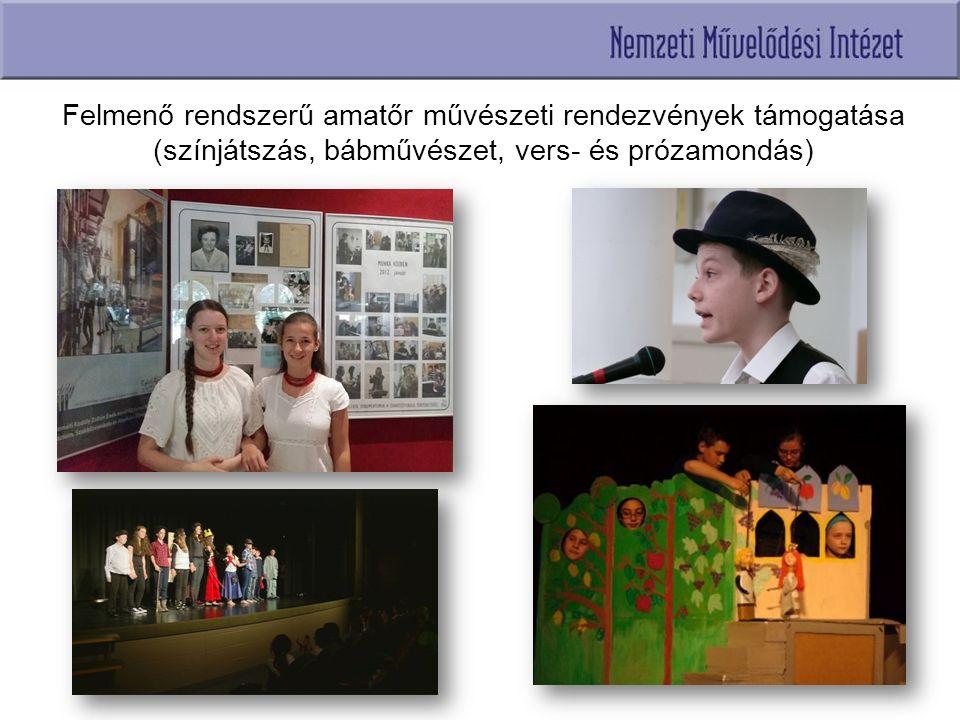 Felmenő rendszerű amatőr művészeti rendezvények támogatása (színjátszás, bábművészet, vers- és prózamondás) XXII.
