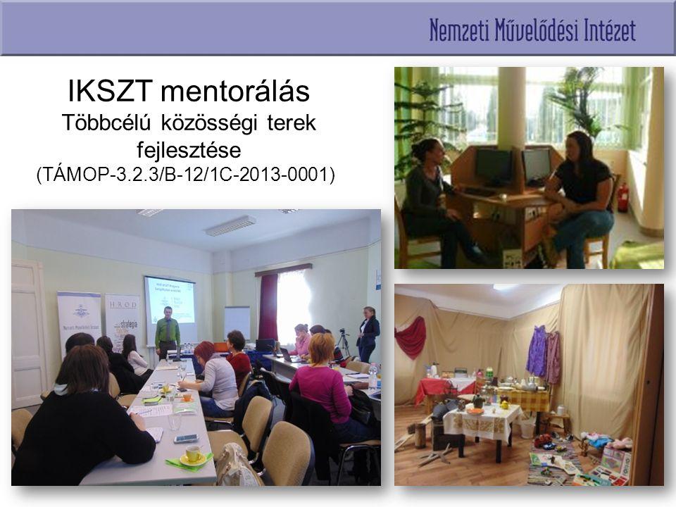 IKSZT mentorálás Többcélú közösségi terek fejlesztése (TÁMOP-3.2.3/B-12/1C-2013-0001))