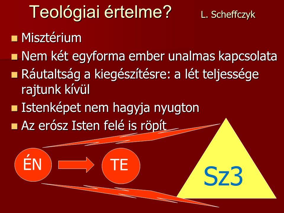 Sz3 Teológiai értelme. L.