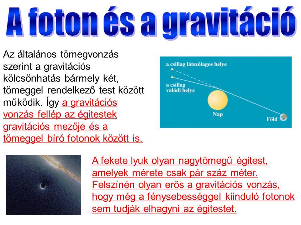 Az általános tömegvonzás szerint a gravitációs kölcsönhatás bármely két, tömeggel rendelkező test között működik.