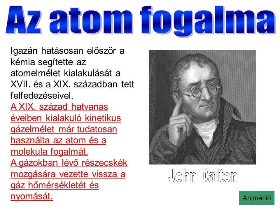 Igazán hatásosan először a kémia segítette az atomelmélet kialakulását a XVII.