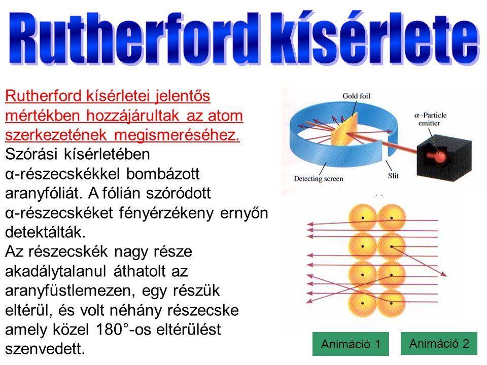 Rutherford kísérletei jelentős mértékben hozzájárultak az atom szerkezetének megismeréséhez.