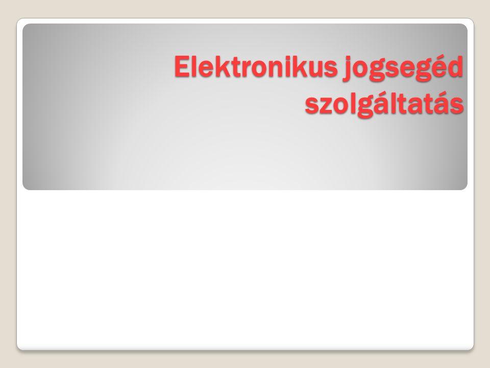 Elektronikus jogsegéd szolgáltatás
