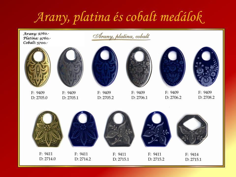 Arany, platina és cobalt medálok