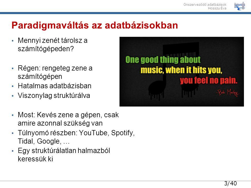 34/40 Önszerveződő adatbázisok Hosszu Éva Egy Google keresés