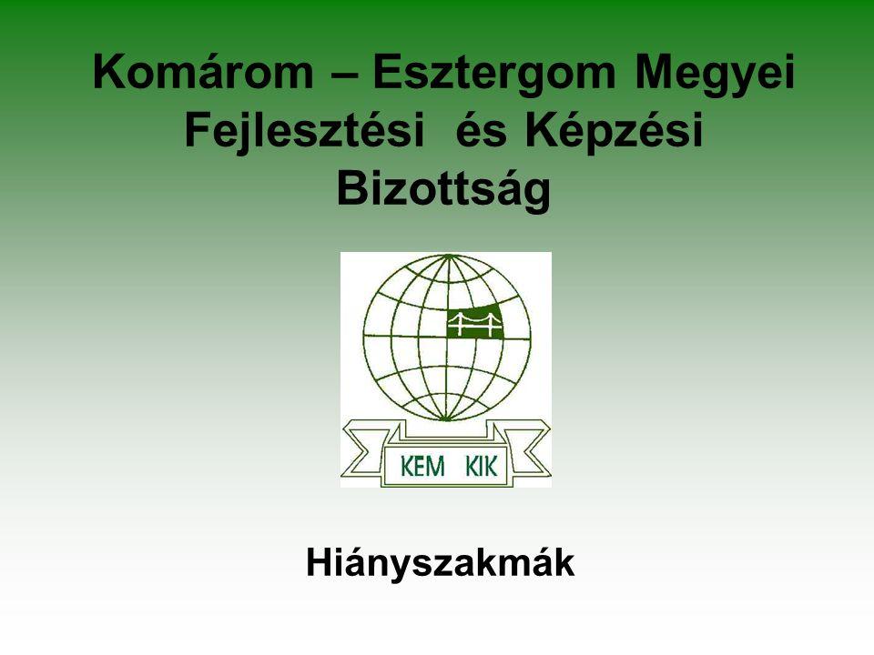 Komárom – Esztergom Megyei Fejlesztési és Képzési Bizottság Hiányszakmák
