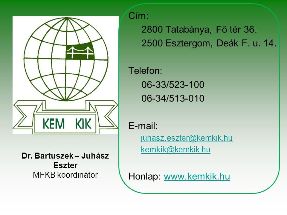 Cím: 2800 Tatabánya, Fő tér 36. 2500 Esztergom, Deák F.