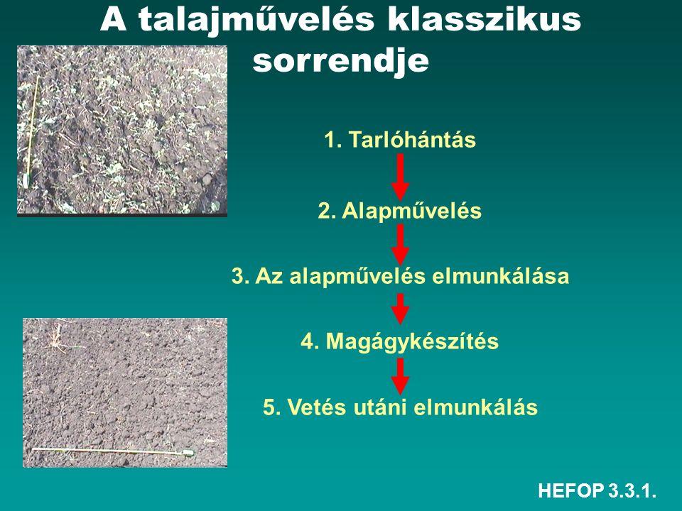 HEFOP 3.3.1.1. Tarlóhántás: tarlón végzett sekély talajmunka max.