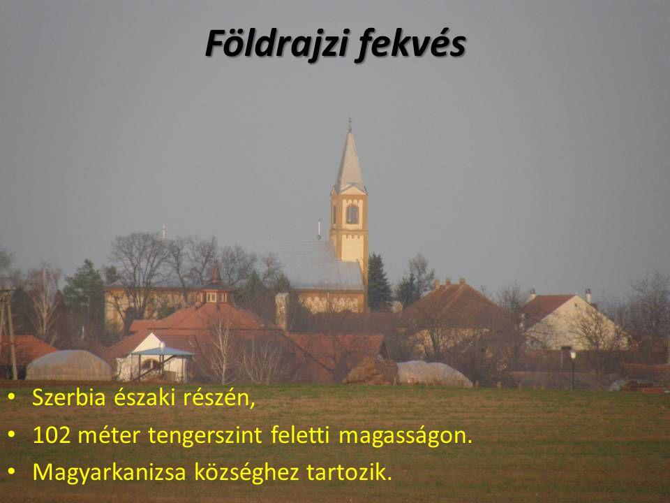 Földrajzi fekvés Szerbia északi részén, 102 méter tengerszint feletti magasságon.