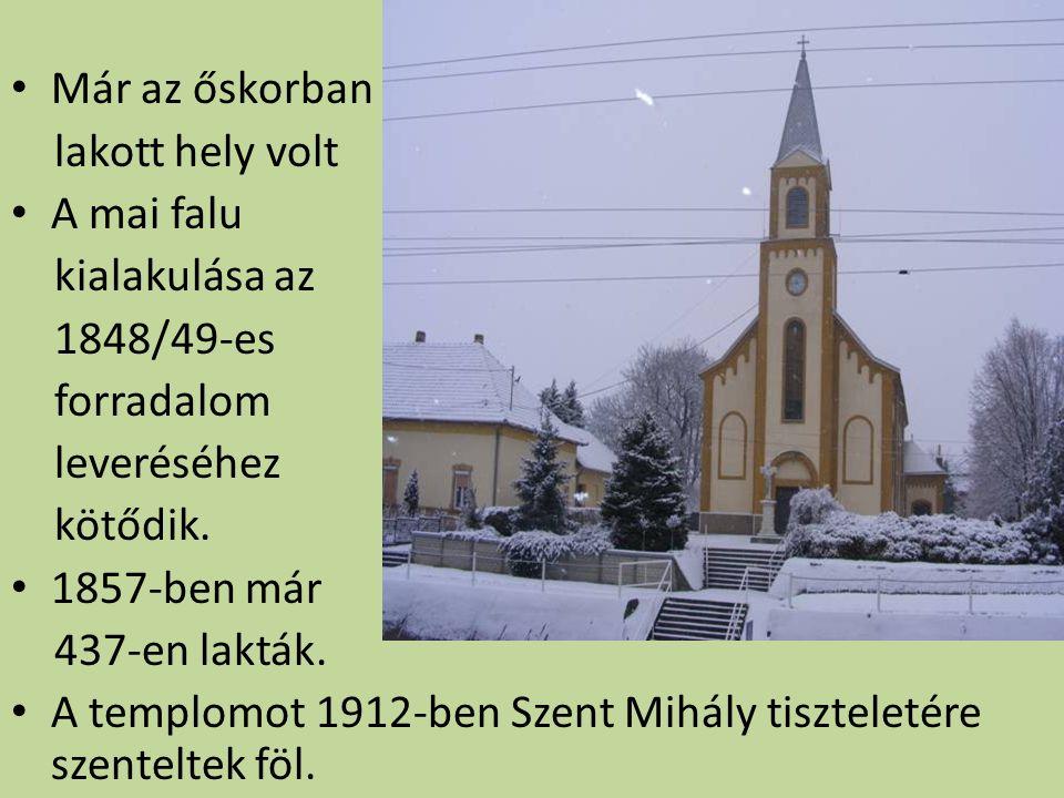 Már az őskorban lakott hely volt A mai falu kialakulása az 1848/49-es forradalom leveréséhez kötődik.