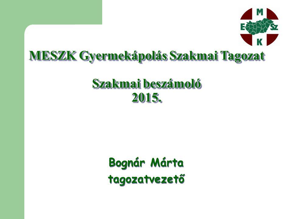 MESZK Gyermekápolás Szakmai Tagozat Szakmai beszámoló 2015.