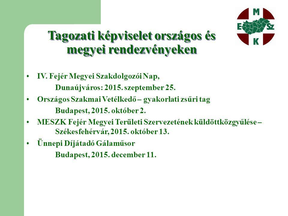 Tagozati képviselet országos és megyei rendezvényeken IV.