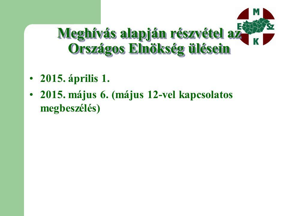 Egyebek  Tagozati költségvetés és munkaterv elkészítése a 2015.