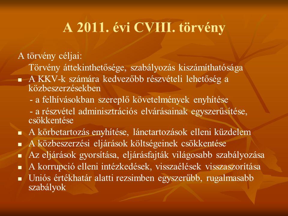 A 2011. évi CVIII.