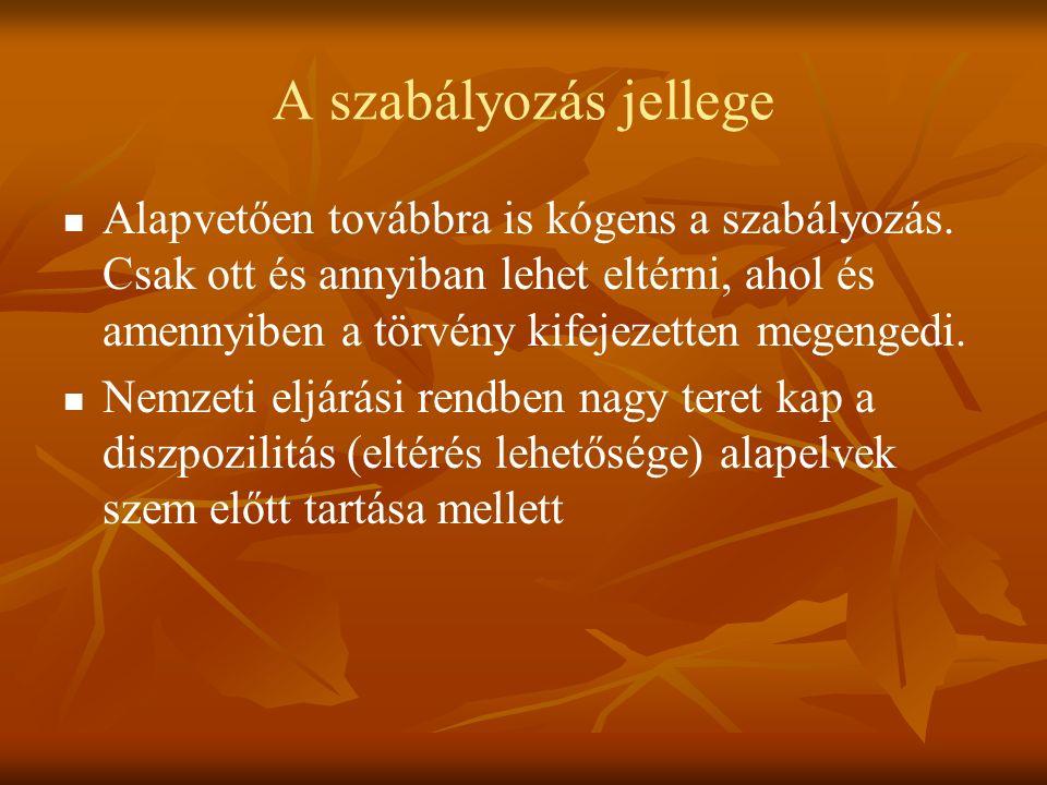 A JOGORVOSLATI RENDSZER TOVÁBBI VÁLTOZÁSAI 2012.01.