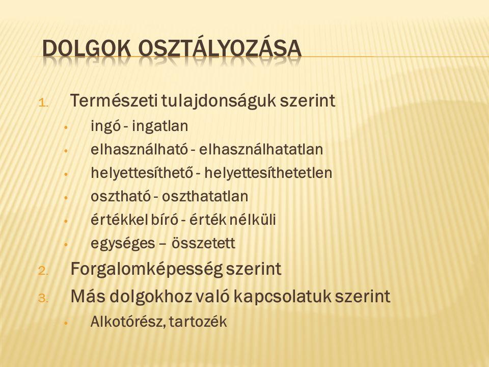 KORLÁTOLT DOLOGI JOGOK 1.