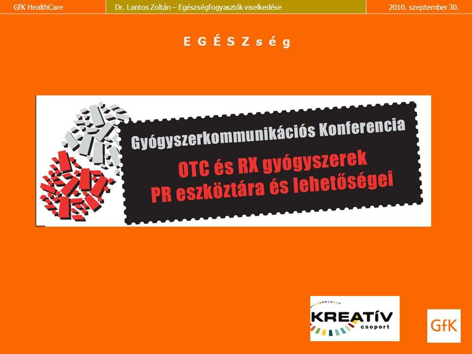 GfK HealthCareDr. Lantos Zoltán – Egészségfogyasztók viselkedése2010.