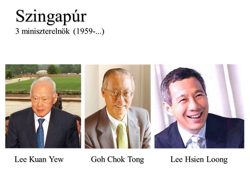 Szingapúr 3 miniszterelnök (1959-...) Lee Kuan Yew Goh Chok Tong Lee Hsien Loong