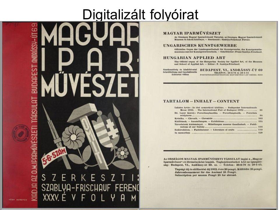 Digitalizált folyóirat epa.oszk.hu/01000/01059 epa.oszk.hu/01000/01059