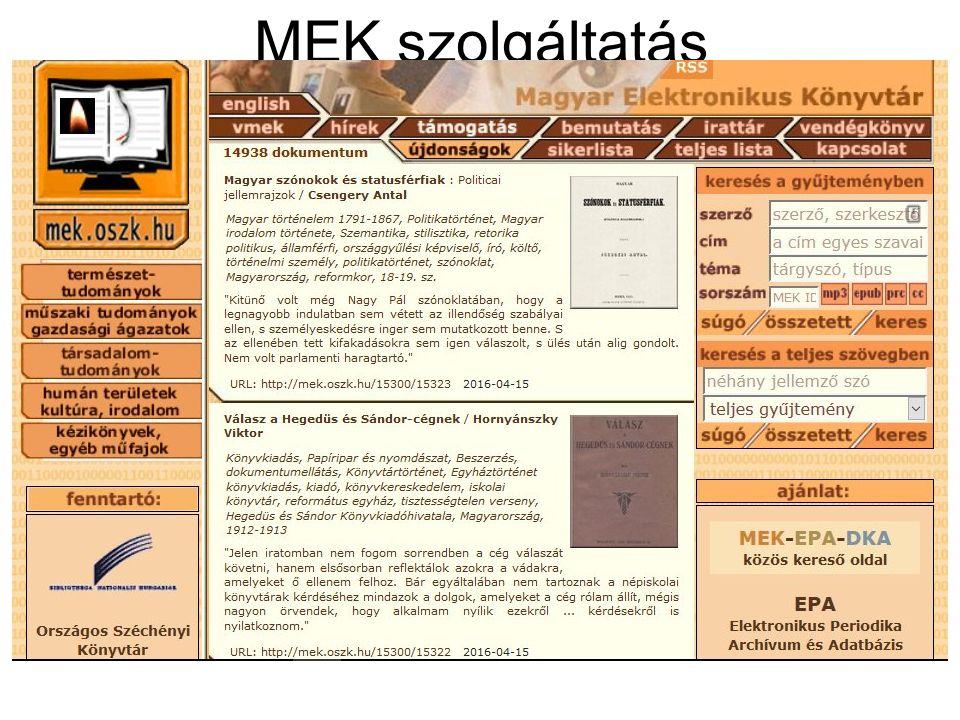 Online folyóirat epa.oszk.hu/02900/02940 epa.oszk.hu/02900/02940