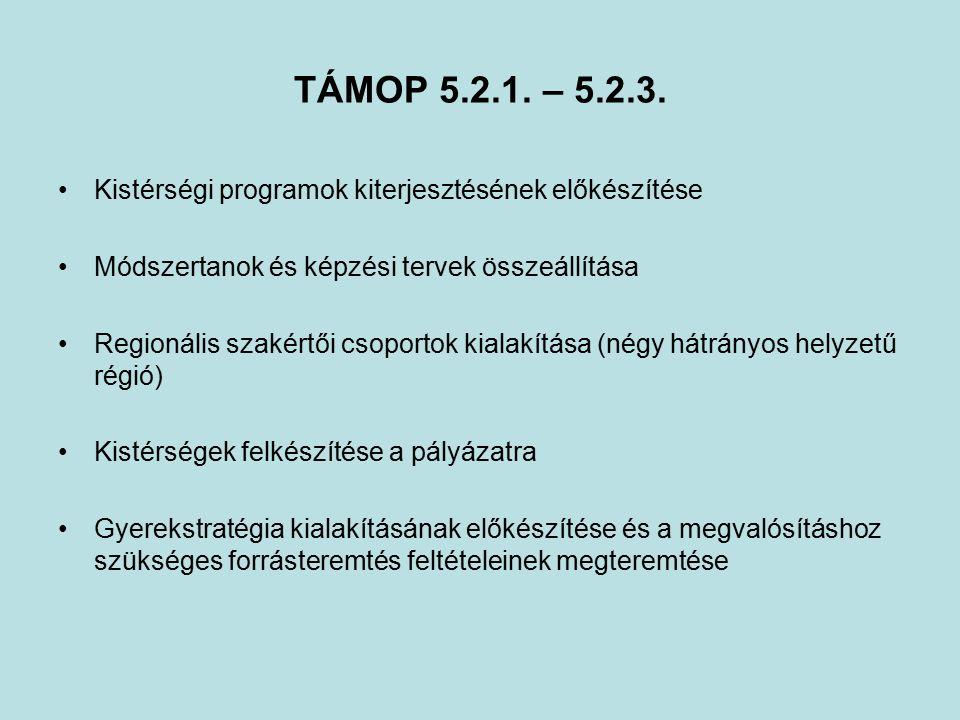 TÁMOP 5.2.1. – 5.2.3.