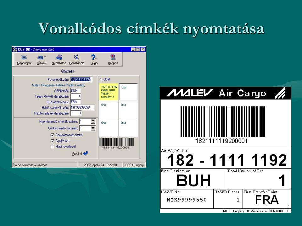 Vonalkódos címkék nyomtatása