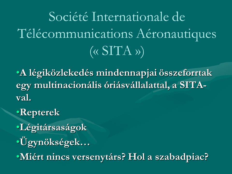 Société Internationale de Télécommunications Aéronautiques (« SITA ») A légiközlekedés mindennapjai összeforrtak egy multinacionális óriásvállalattal,
