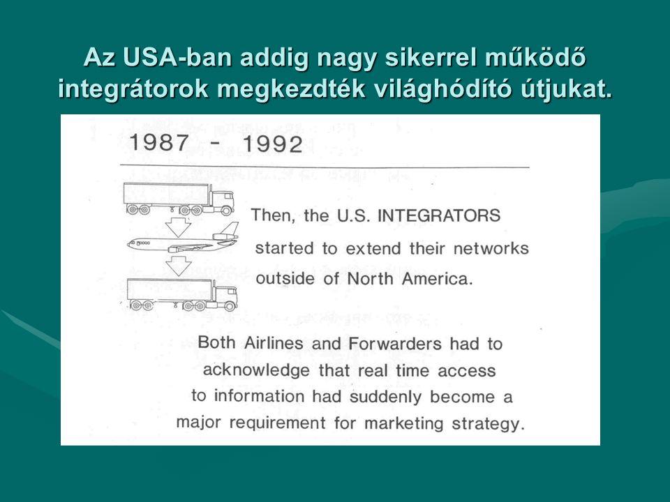 Az USA-ban addig nagy sikerrel működő integrátorok megkezdték világhódító útjukat.