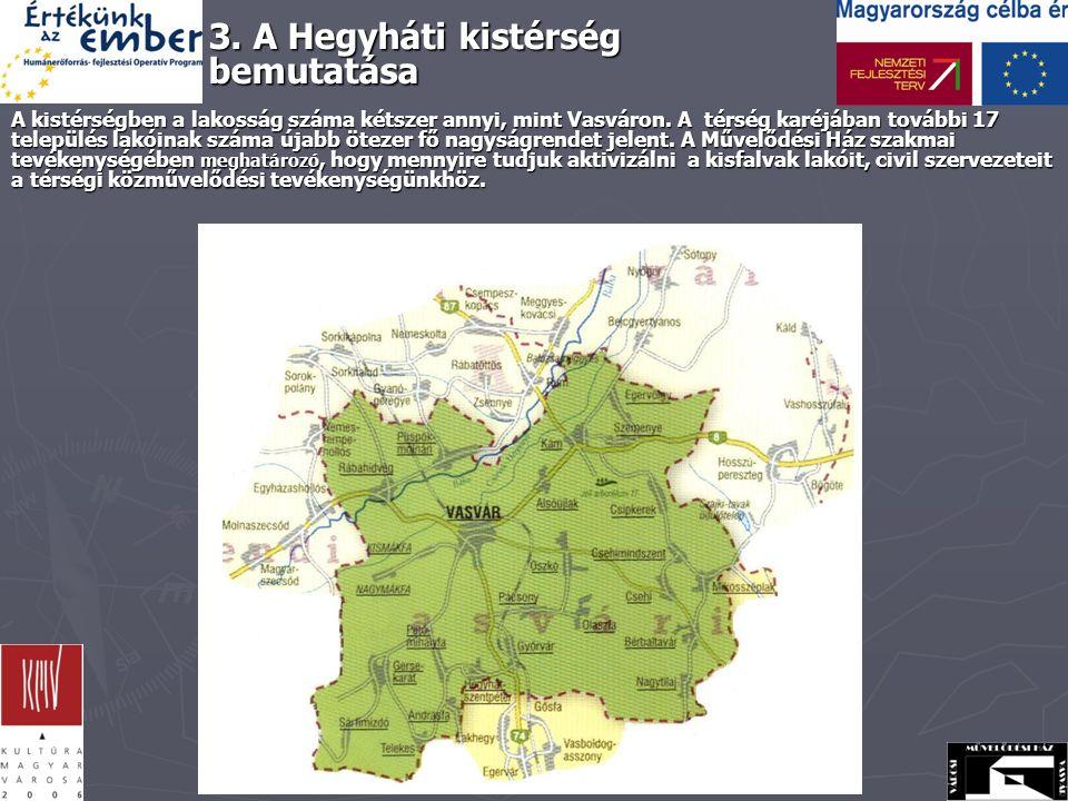 A kistérségben a lakosság száma kétszer annyi, mint Vasváron.