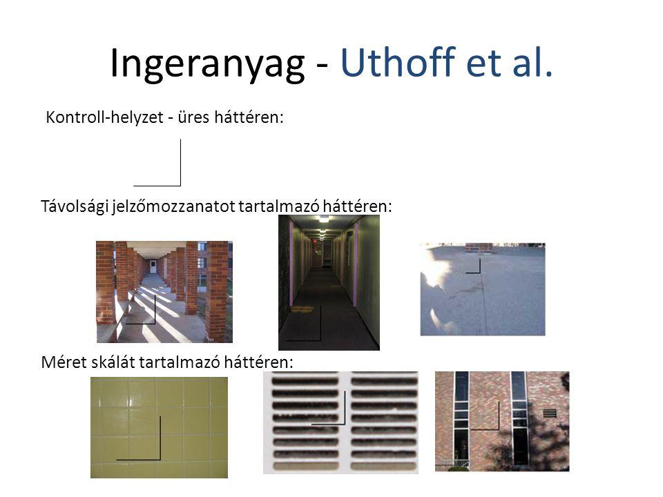 Méret skálát tartalmazó háttéren: Távolsági jelzőmozzanatot tartalmazó háttéren: Kontroll-helyzet - üres háttéren: Ingeranyag - Uthoff et al.