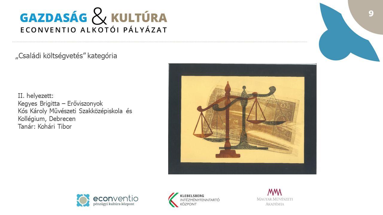 """10 """"Családi költségvetés kategória I.helyezett: Molnár Máté – Havi 47."""