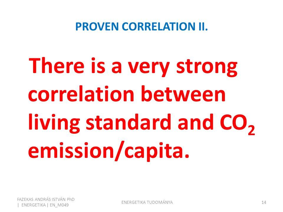 PROVEN CORRELATION II.