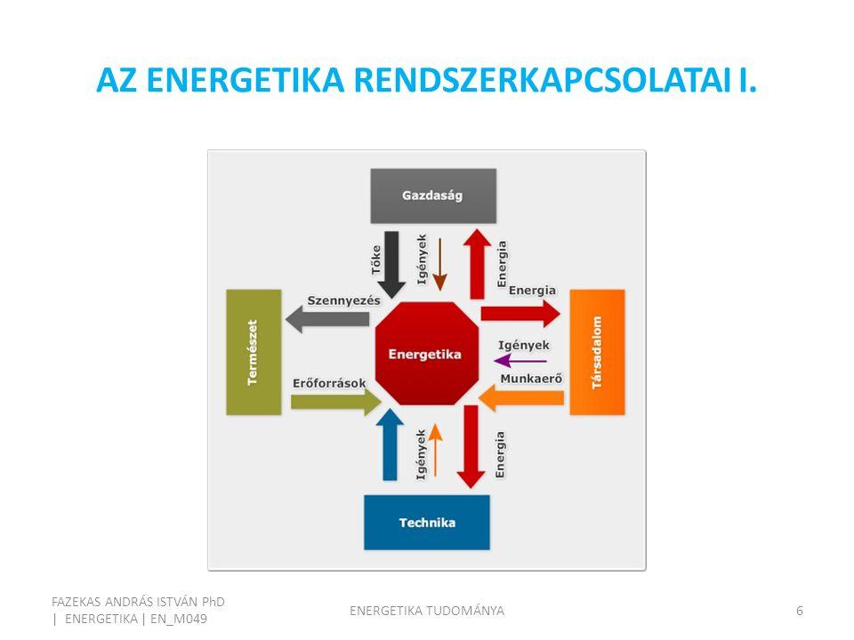 AZ ENERGETIKA RENDSZERKAPCSOLATAI I.
