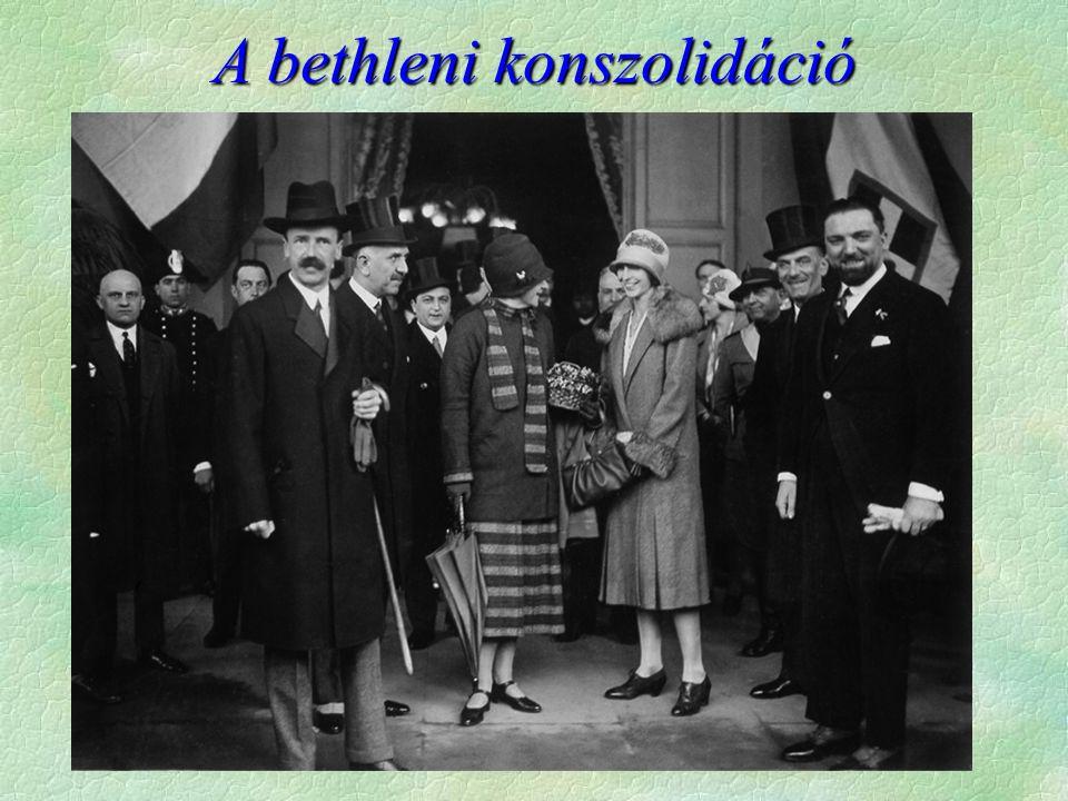 Bethlen az új miniszterelnök  IV.