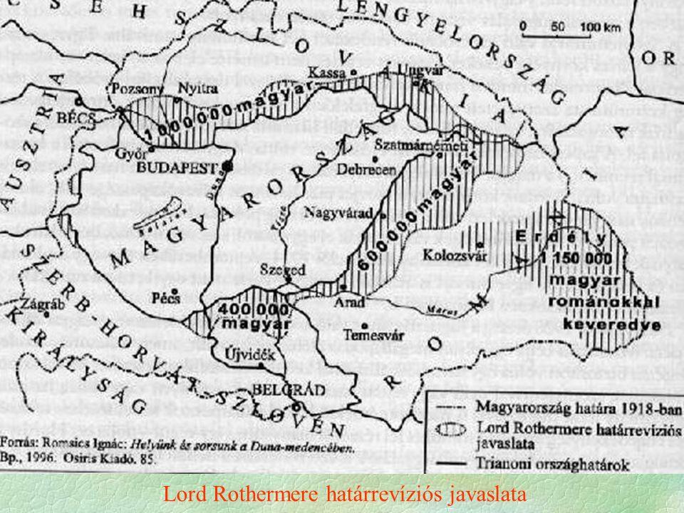Lord Rothermere határrevíziós javaslata