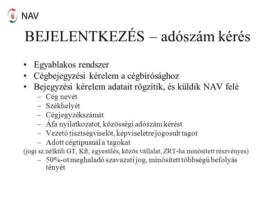 Adóregisztrációs eljárás Art.24/C.