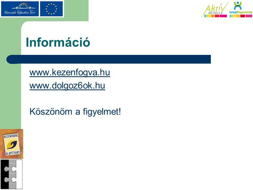 Információ www.kezenfogva.hu www.dolgoz6ok.hu Köszönöm a figyelmet!