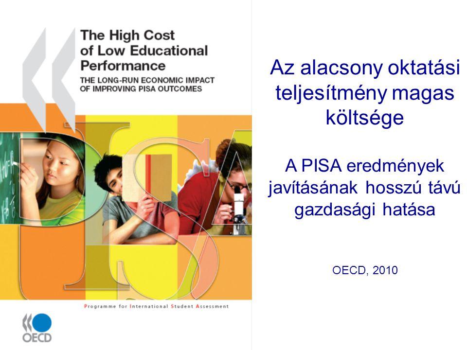 Az alacsony oktatási teljesítmény magas költsége A PISA eredmények javításának hosszú távú gazdasági hatása OECD, 2010