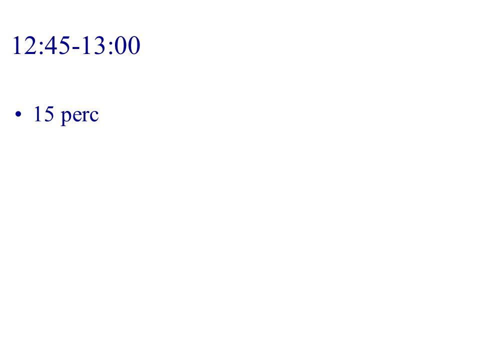 12:45-13:00 15 perc