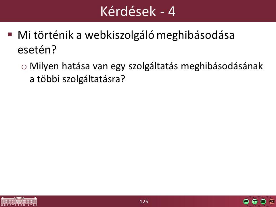 125 Kérdések - 4  Mi történik a webkiszolgáló meghibásodása esetén.