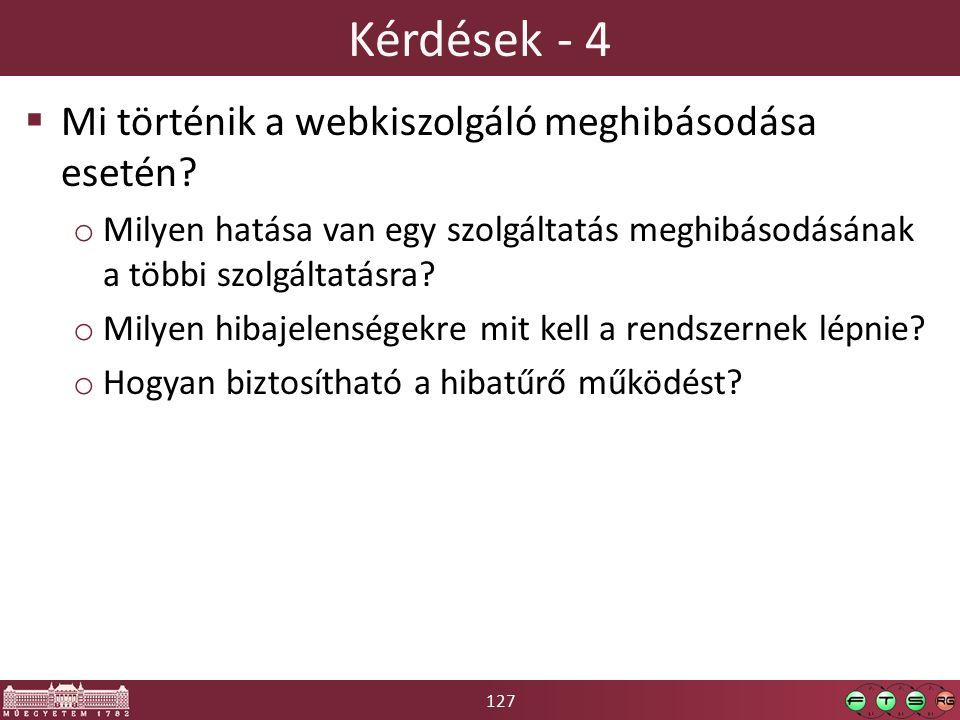 127 Kérdések - 4  Mi történik a webkiszolgáló meghibásodása esetén.