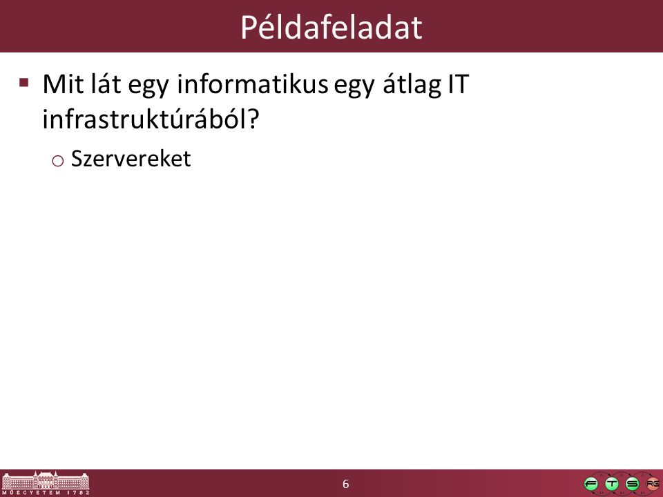 57 Példarendszer Kliens Web böngésző IP cím: 52.90.104.174 IP cím: *.*.*.* *.vcl.local IP cím: 172.30.0.125 IP cím: 172.30.0.135 Egy gépnek több hálózati interfésze, több IP címe, több neve is lehet.