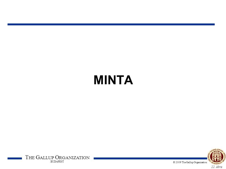 22. ábra T HE G ALLUP O RGANIZATION BUDAPEST © 2009 The Gallup Organization MINTA